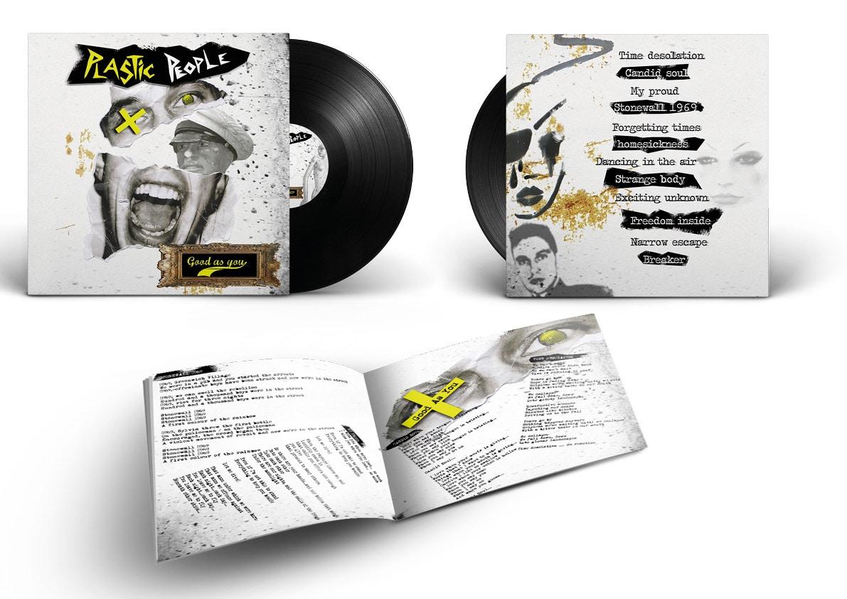 """pochette du disque """"good as """"you"""" du groupe Plastic People"""