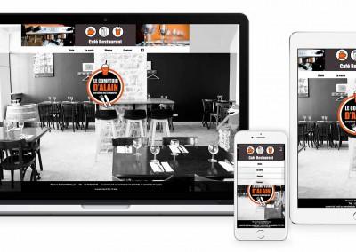 Site du restaurant «Le comptoir d'Alain»
