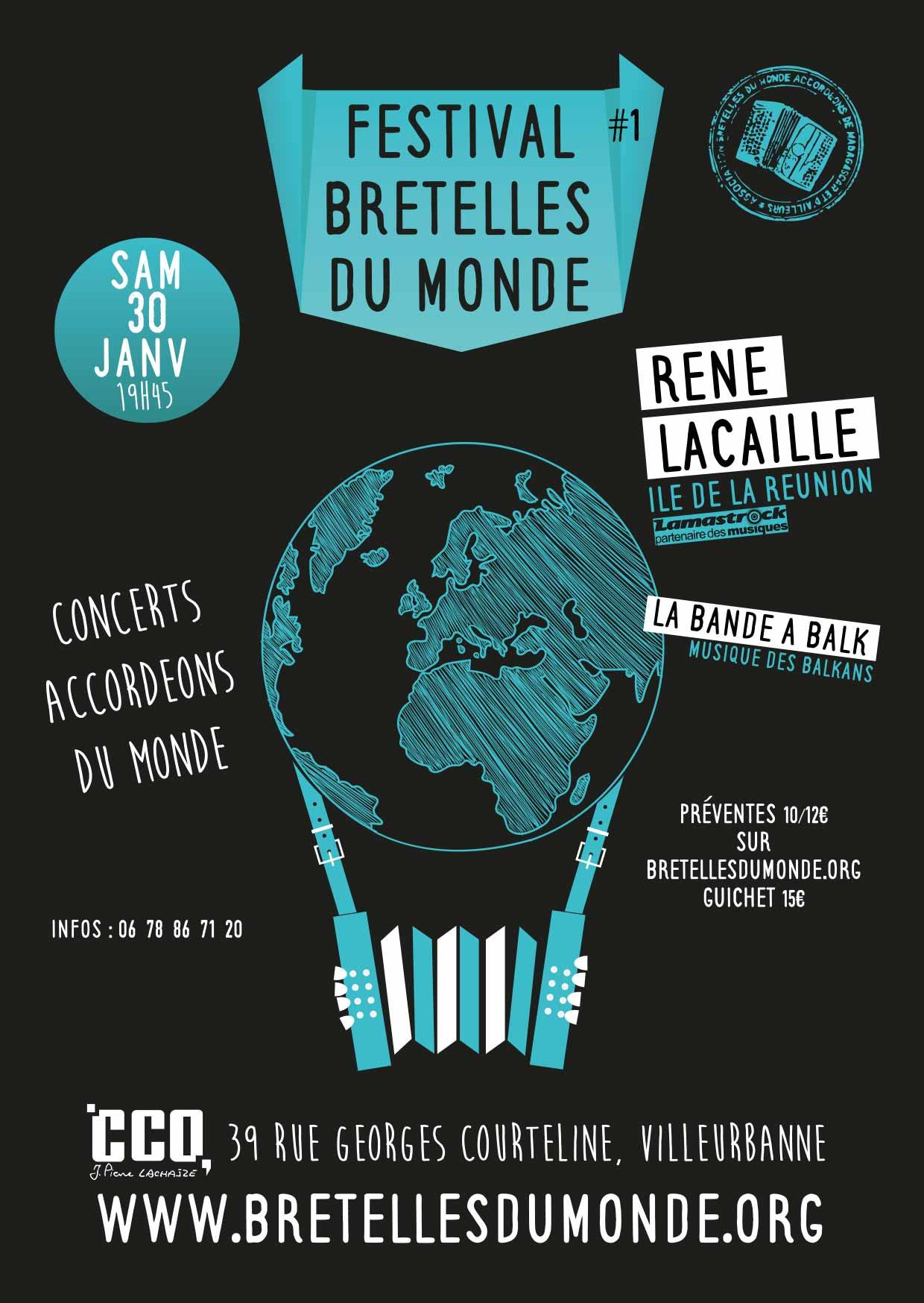 Affiche festival bretelles du monde lyon janvier 2016