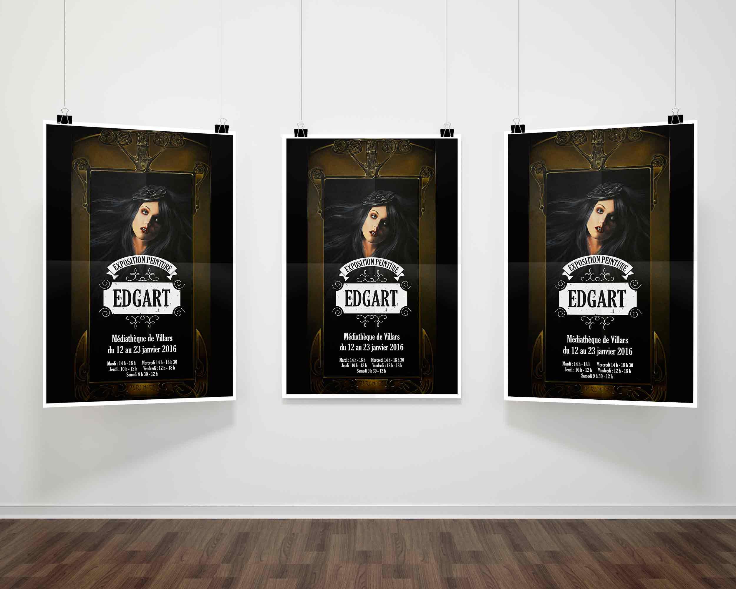 affiche expo peintre Edgart