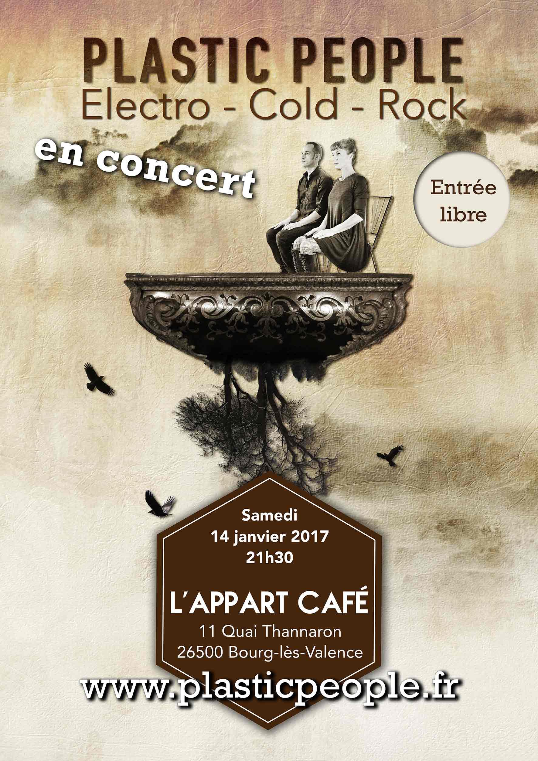 affiche plastic people concert à l'appart café à Valence
