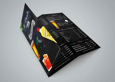 carte des boissons pizzeria Al Dente