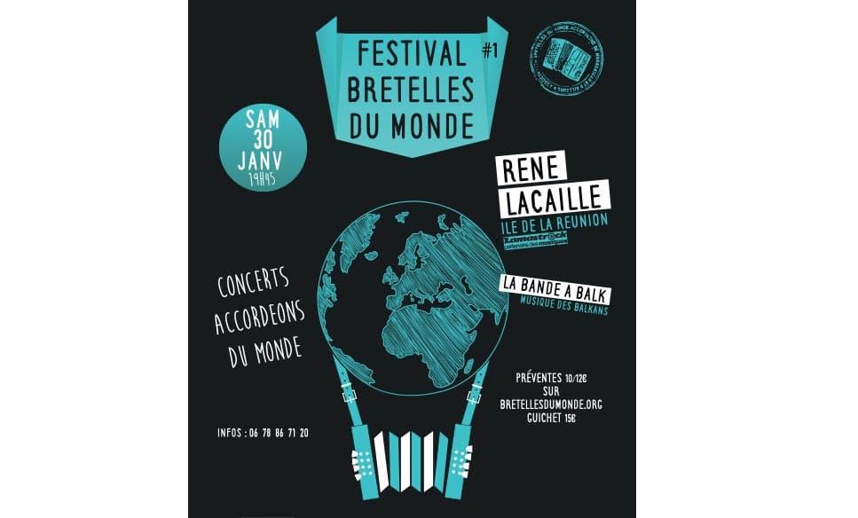 Affiche festival accordéon Bretelles du monde
