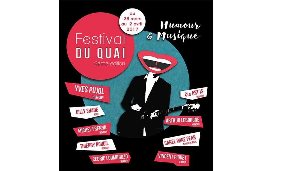 Affiche réalisée pour le festival du quai à Valence