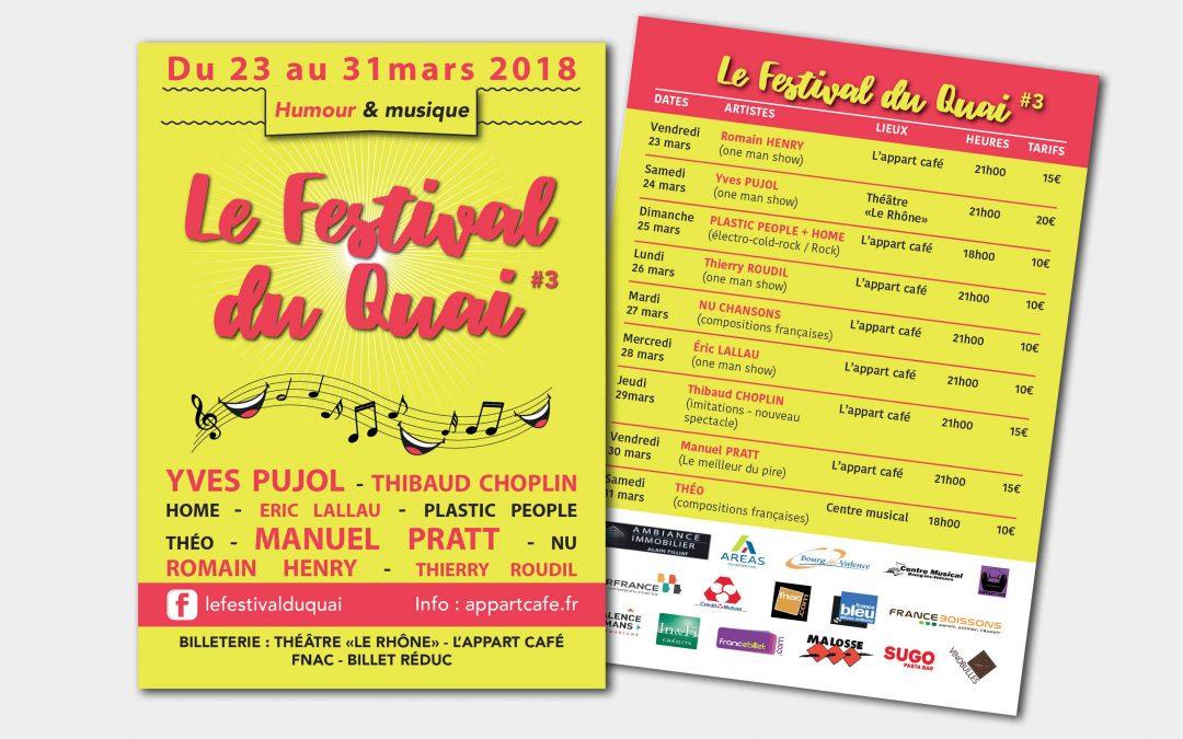 Flyers Festival du Quai 3ème édition